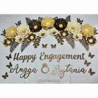 Paper Flower Lamaran Backdrop Kertas Jasmine Engagement Dekorasi