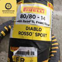 Ban Motor Pirelli Diablo Rosso Sport 80/80 Ring 14 TL / Front/Rear