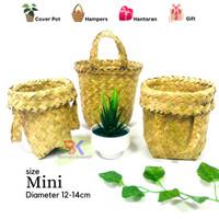 Grosir Bakul Cover Pot Purun (size mini)