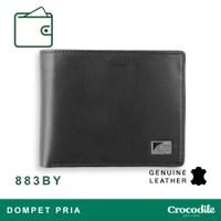 Crocodile 883BY Dompet Pria Men Wallet Leather Kulit Original - Hitam