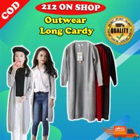 Outerwear Cardigan Anak Panjang Rajut Halus Long Cardy Kids DOA014B - Hitam, Long