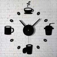 RRDIY07 Taffware Jam Dinding 40-70cm DIY Giant Wall Clock Model Kopi C