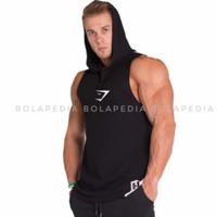 SH - HIU LOGO / Singlet hoodie kaos gym training baju olahraga pria