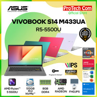 ASUS VIVOBOOK S14 M433UA - RYZEN 5-5500U 8GB 512GB 14 FHD OHS W10