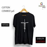 KAOS DISTRO Jesus Baju Kaos Distro Pria Bandung / Kaos Keren / T-Shir