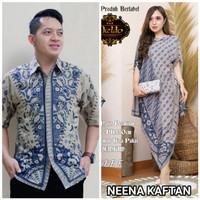 batik couple wiwasata kemeja + neena kaftan by dewo