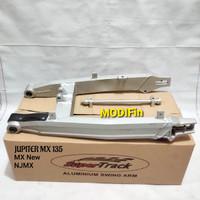 Swing Arm Jupiter MX New NJMX Original SuperTrack Silver Arm Aluminium