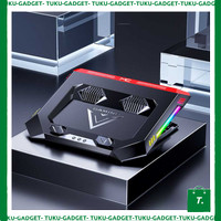 Mc Cooling Pad Gaming Laptop Double Fan With RGB LED - TU578K8