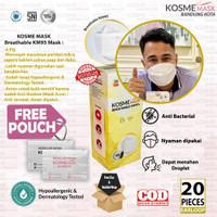 MASKER KOSME MASK/ BREATHABLE MASK/ KM95 / NANO SILVER/ 1 BOX