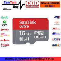 MicroSD Sandisk Ultra 16GB SDXC UHS-I Card Class 10 A1 Speed 100MB/s
