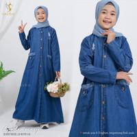 Baju anak perempuan /Gamis anak tanggung 8-11thn/gamis levis/LYODRA