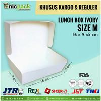 (Reguler/Kargo) Paper Lunch Box size M Ivory Foodgrade