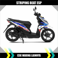 Striping Sticker Variasi Honda Beat Esp Motip Mandalika Racing Team