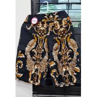Celana Batik Kulot Premium (panjang 3/4 , motif 8 & 9) - 8 hitam