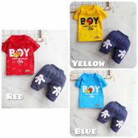 Setelan Baju Anak Bayi Laki-laki Boy Warna Usia 3-12 bulan