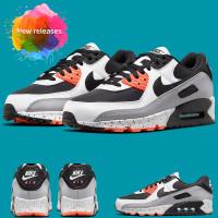 Nike Air Max 90 Black Turf Orange Aquamarine Sepatu Lari Sneakers Pria