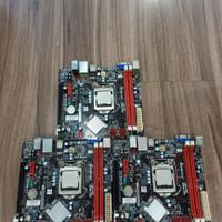 MOTHERBOARD INTEL MERK ECS-FOXCON-ASROCK-BIOSTAR H61 SOKET 1155 MANTAP