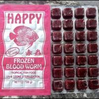 Cacing Beku Kapsul Bloodworm Frozen Cacing Darah Trey Kotak