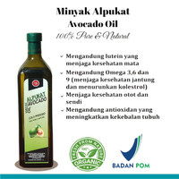 MINYAK ALPUKAT / AVOCADO OIL 500ML MURNI & ALAMI FOOD GRADE