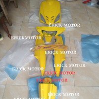 cover body full halus Mio sporty kuning limited edition plus striping