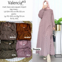Baju Setelan Wanita Muslim Longtunik Dan Celana Valencia #3 Set 01,5