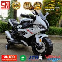 Motor Aki Mainan Anak Motor Aki Ninja RR Ban Karet Gas Tangan