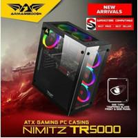 Armageddon Nimitz TR5000 ATX Gaming PC Case- Hitam