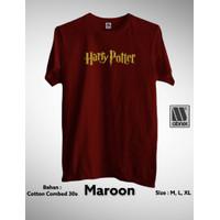 Kaos Harry Potter Baju/Pakaian/Tshirt Distro Sablon Cutting Premium