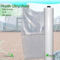Plastik UV Vatan Lebar 6 Meter 200 Micron 14% harga 10 meter