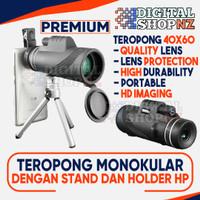 Teropong Monokular with Phone Clip + Stand PREMIUM 40 x 60