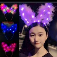 Bando kelinci lampu LED - BANDO PARTY - Bandkelinci-blu