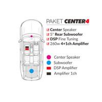 Paket Audio Mobil Cello Audio CENTER4 Untuk INNOVA 2004-2015 GREY