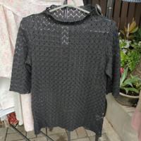 Baju import bal segel blouse full rajut Brand GU ld 84 p60
