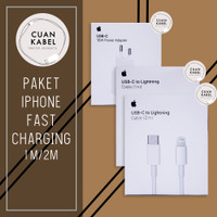 CHARGER FAST CHARGING IPHONE 1M / 2M - APPLE USB C TO LIGHTNING ORI