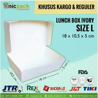 (Reguler/Kargo) Paper Lunch Box size L Ivory Foodgrade
