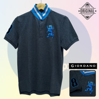 Size S-LD94 Giordano Original POLO SHIRT PRIA Kaos Berkerah Cowo Grey