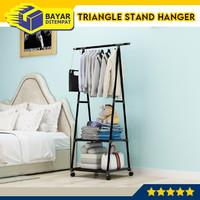 Triangle Standing Hanger Rak Baju Segitiga Gantungan Kokoh