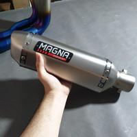 Magna Exhaut Bukan Akrapovic Leovince Proliner R9 CBR 150 Ninja 250 - Silver