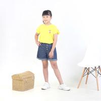 Setelan Baju Kaos Dan Celana Pendek Jeans Anak Perempuan 6 8 10 12 th
