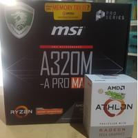 AMD Athlon 200GE + MSI A320M A Pro Max