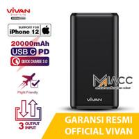 POWERBANK FAST CHARGING VIVAN VPB-H20S 22.5W 20000mAH PD QC3.0 3 USB