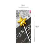 Lilin model star love untuk dekorasi pesta ulang tahun - Star gold