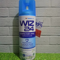 WINGS WIZ24 Disinfectant Spray Aerosol 300ml - Hijau ( Fresh Scent ) - Biru