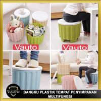 Kursi Bangku Plastik Tempat Penyimpanan Multifungsi Serbaguna