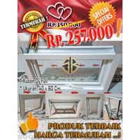 TERMURAH !!! JENDELA CASEMENT ALUMINIUM UKURAN 40x60 Cm KUSEN 3