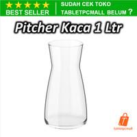 KRAFF Pitcher Kaca 1 Liter Karafe Minuman Vas Bunga Transparan Bening
