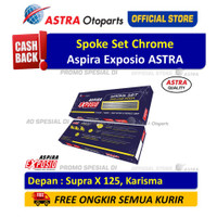 Spoke Set Chrome ASPIRA EXPOSIO Depan Motor Supra X 125, Karisma