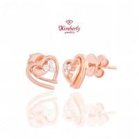 Anting Berlian KER652964 - Kimberly Jewellery - Rose Gold