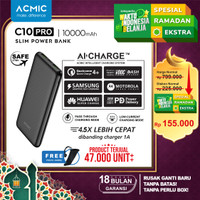 ACMIC C10PRO Slim 10000mAh AiCharge Power Bank (QC4 + PD + VOOC) - C10Pro No Kabel