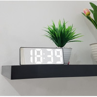Jam Meja Digital Alarm LED Clock Mirror